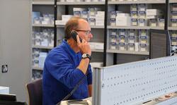 customer service on phone stock