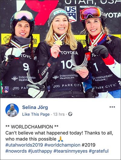 selina jorg gold medal