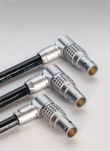 anglissimo oriented connector plug by lemo