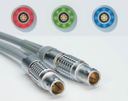 halo led connector from lemo's IAC range